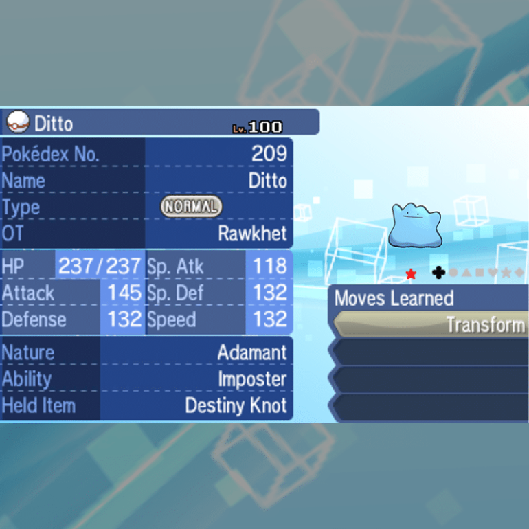 Ditto - Shiny English