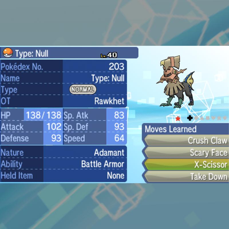 Type Null & Silvally - Type Null