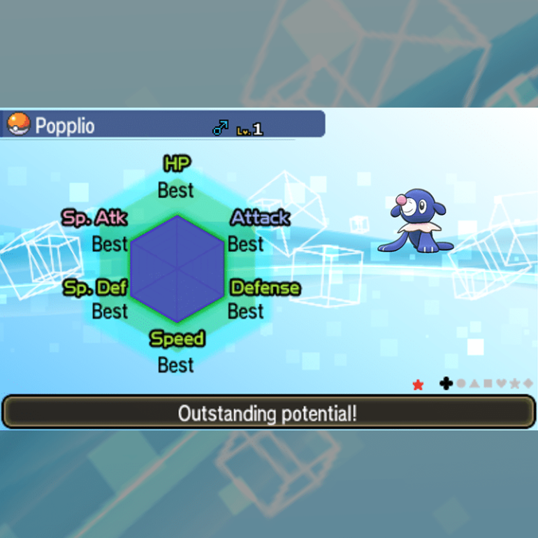 Starters - Popplio IVs