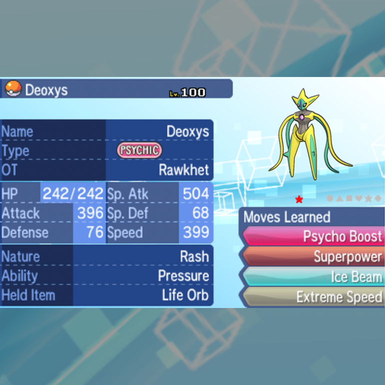 Deoxys - Attack