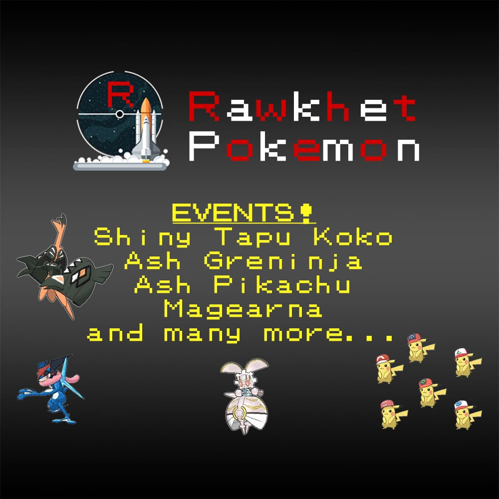 Event Pokemon - 6IV, Ash Greninja, Shiny Tapu Koko, Magearna, Ash Pikachu,  Lunar Magikarp, and more! - Pokemon Ultra/Sun/Moon