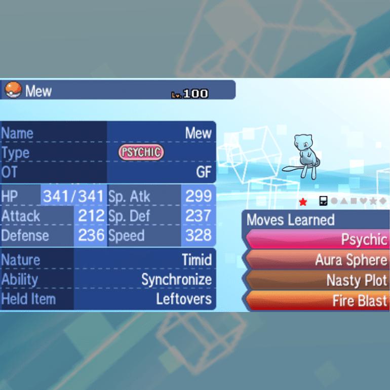 Mew - Gameboy, Shiny, Battle Ready