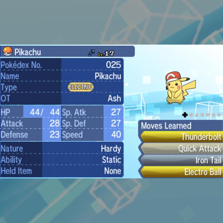 Ash Pikachu - Kalos Cap