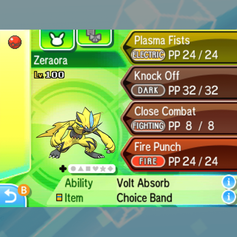 Zeraora - Moves