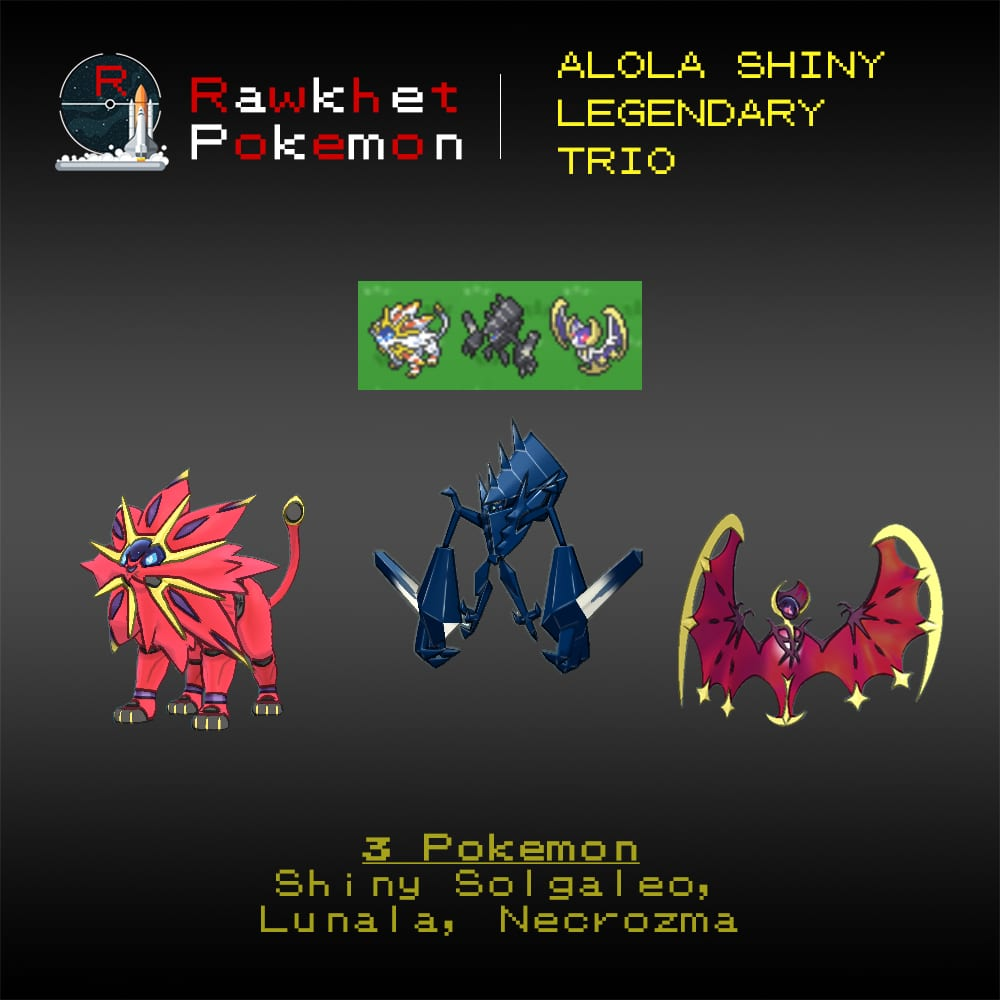 Alola Shiny Trio - Hero