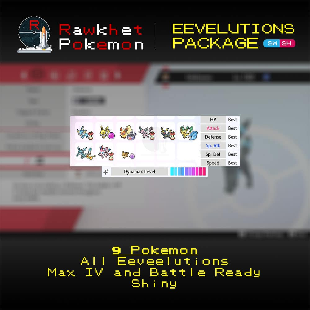 Eeveelutions Package (9x, 6IV, Shiny, Battle Ready) - Pokemon Sword and Shield