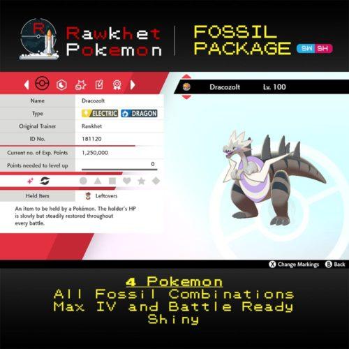Galar Fossil - Dracozolt