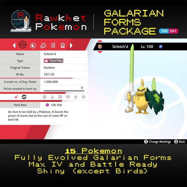 Galarian Forms - Sirfetch'd