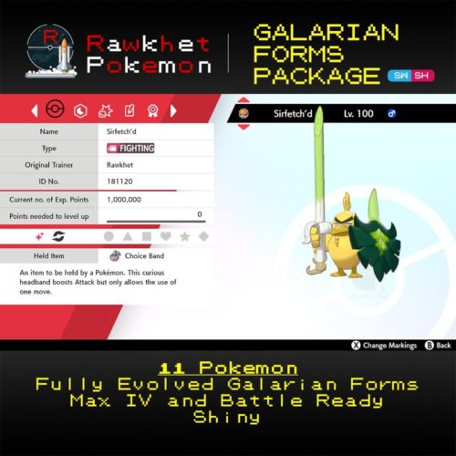 Galarian Forms - Sirfetch'd