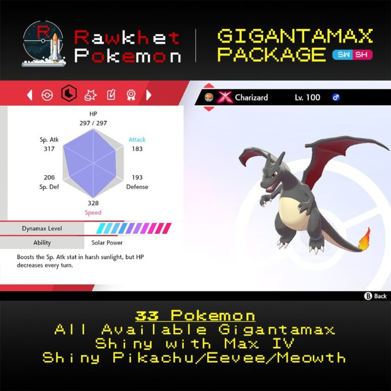 Gigantamax - Charizard Stats