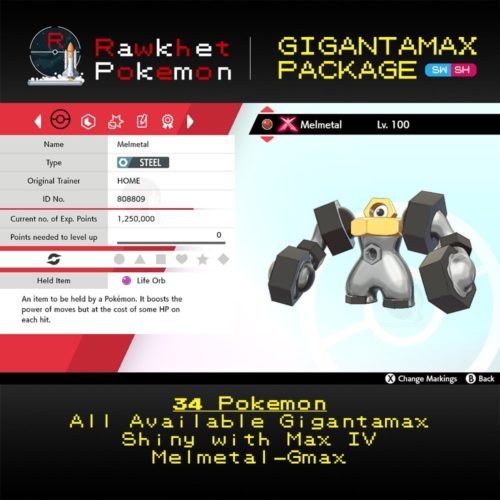 Gigantamax Package - Melmetal Summary
