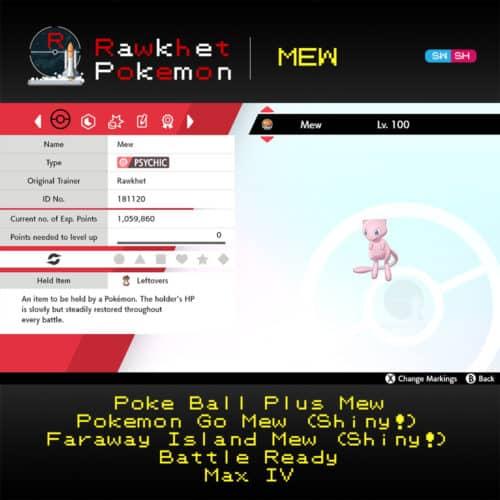 Mew - Poke Ball Plus Summary