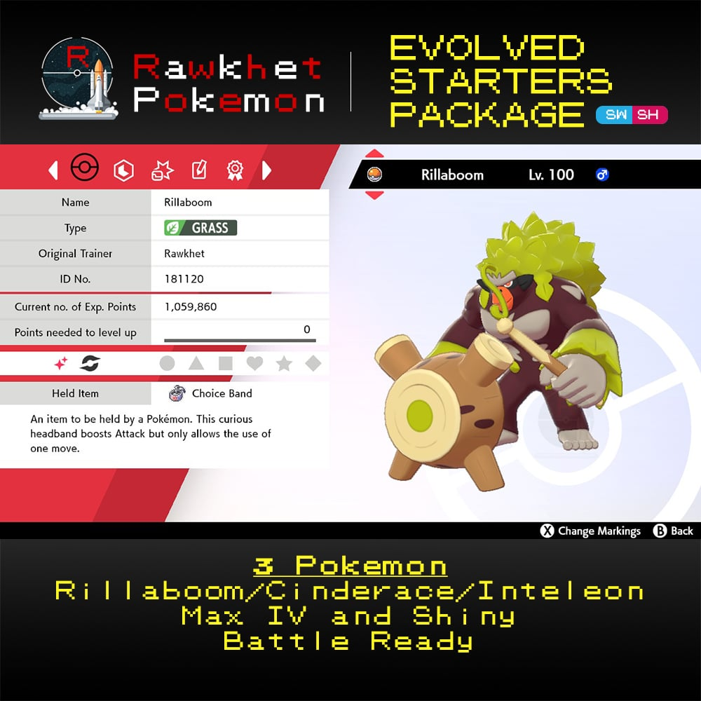 Galar Evolved Starters Trio - Rillaboom
