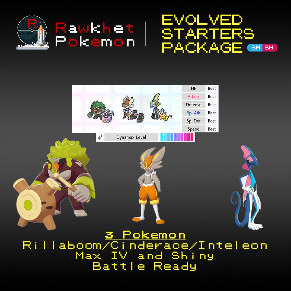 Galar Evolved Starters Trio - Hero