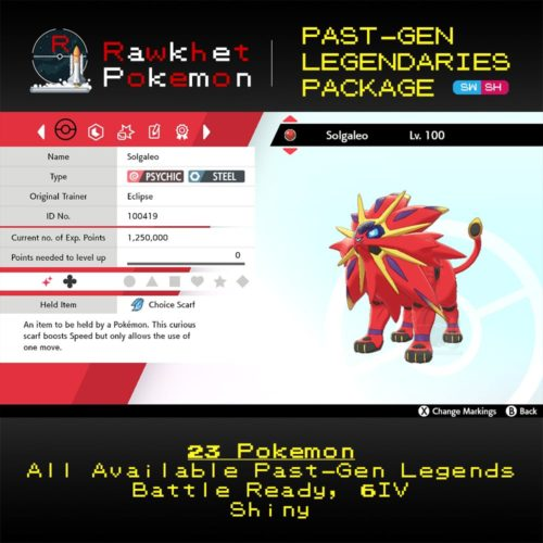 SWSH Past-Gen Legendaries Package - Solgaleo