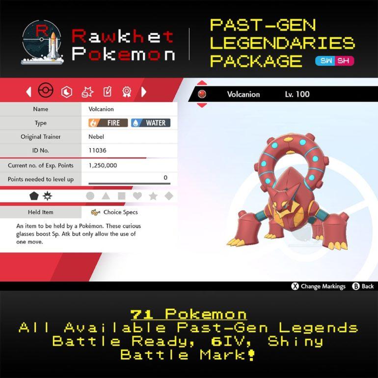 SWSH Past-Gen Legendaries - Volcanion