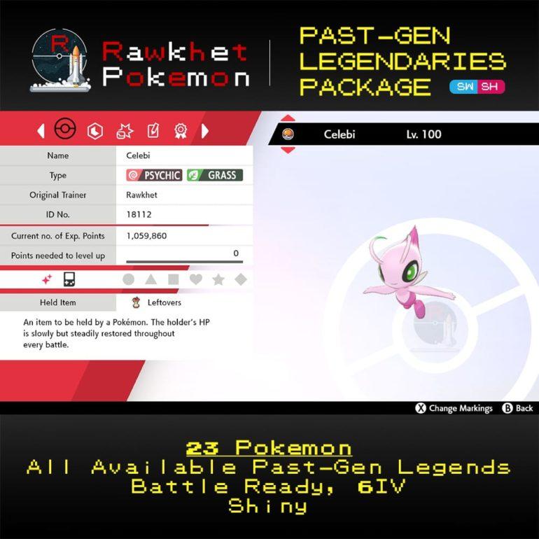 SWSH Past-Gen Legendaries Package - Celebi