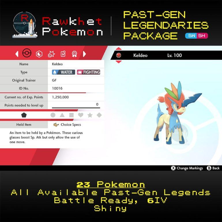 SWSH Past-Gen Legendaries Package - Keldeo