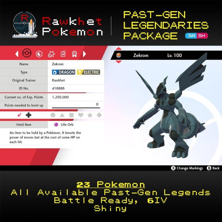 SWSH Past-Gen Legendaries Package - Zekrom