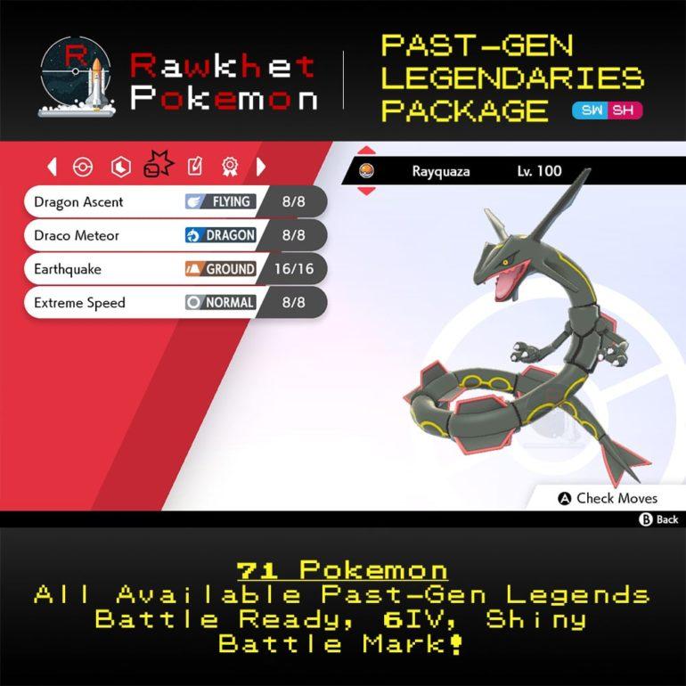 SWSH Past-Gen Legendaries - Rayquaza Moves