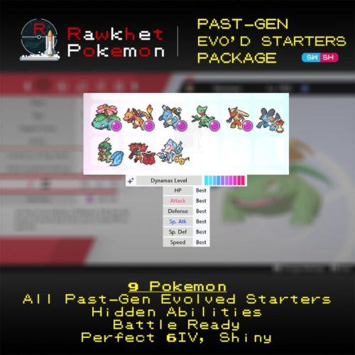 Past-Gen Evolved Starters - Hero