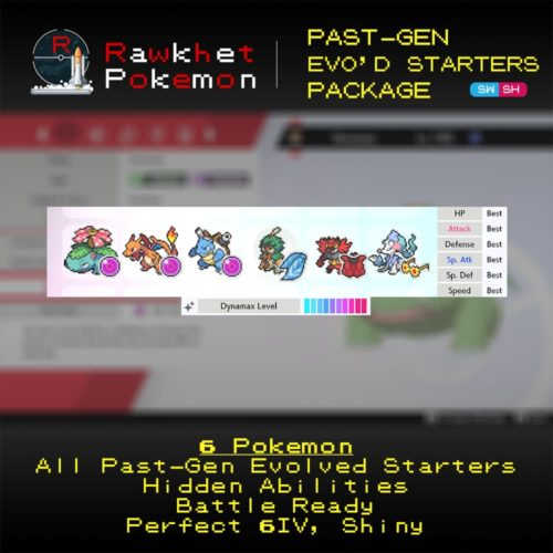 Past-Gen Evolved Starters - Hero