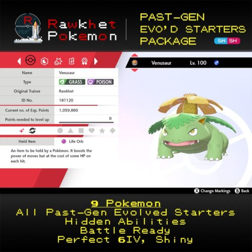 Past-Gen Evolved Starters - Venusaur