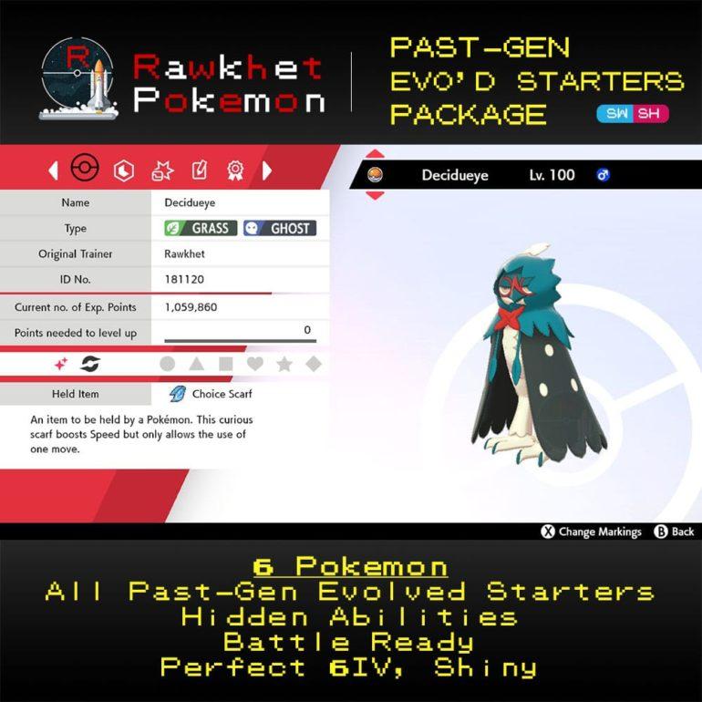 Past-Gen Evolved Starters - Decidueye