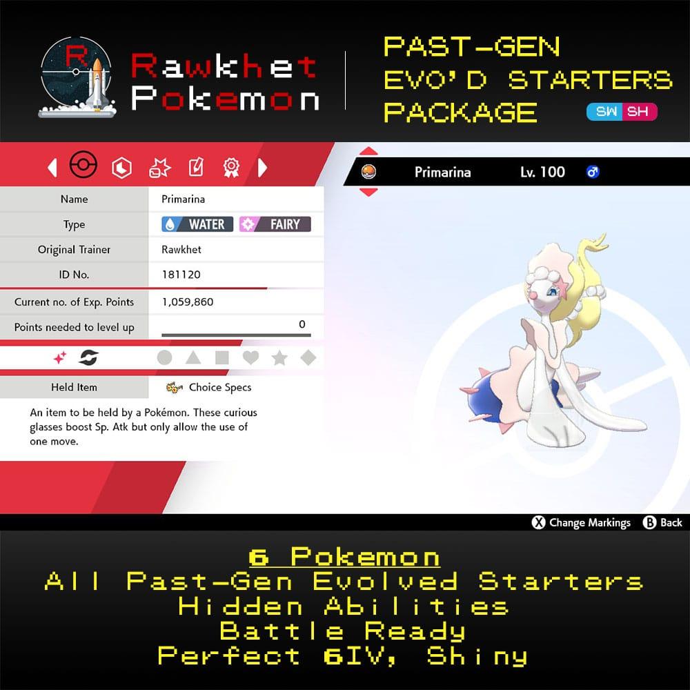 Past-Gen Evolved Starters - Primarina
