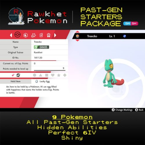 Past-Gen Starters - Treecko