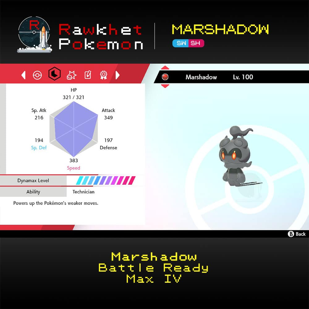 SWSH Marshadow - Stats