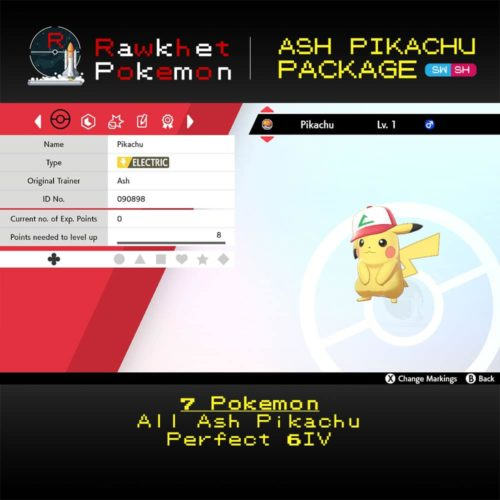 SWSH Ash Pikachu Package - Original