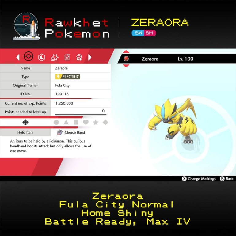 Zeraora SWSH - Hero
