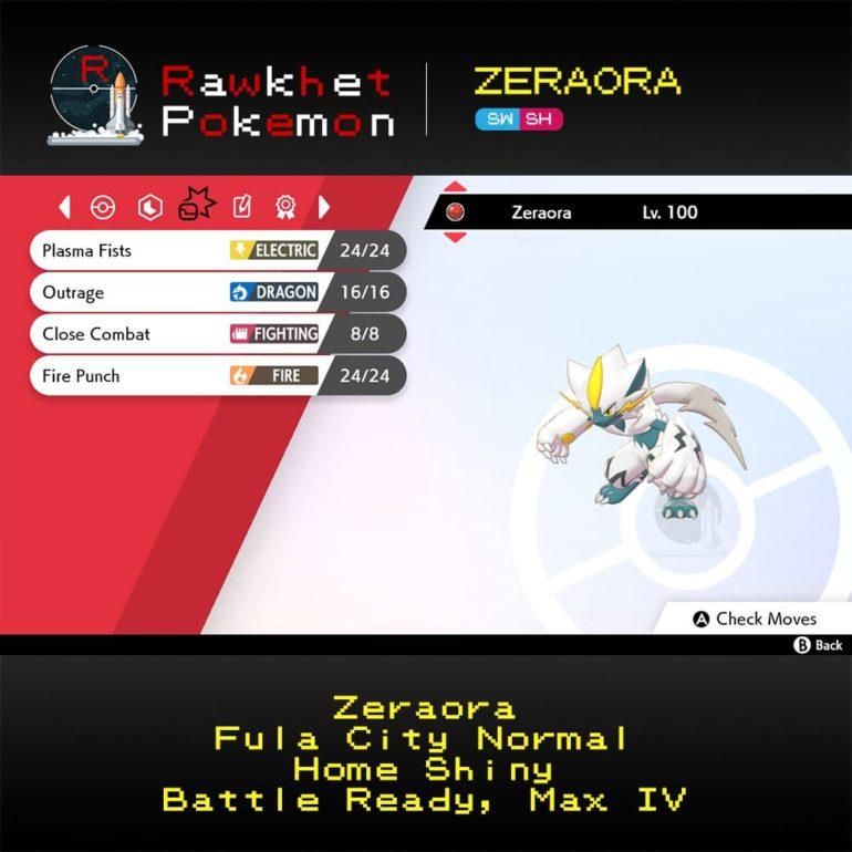 Zeraora SWSH - Home Shiny Moves