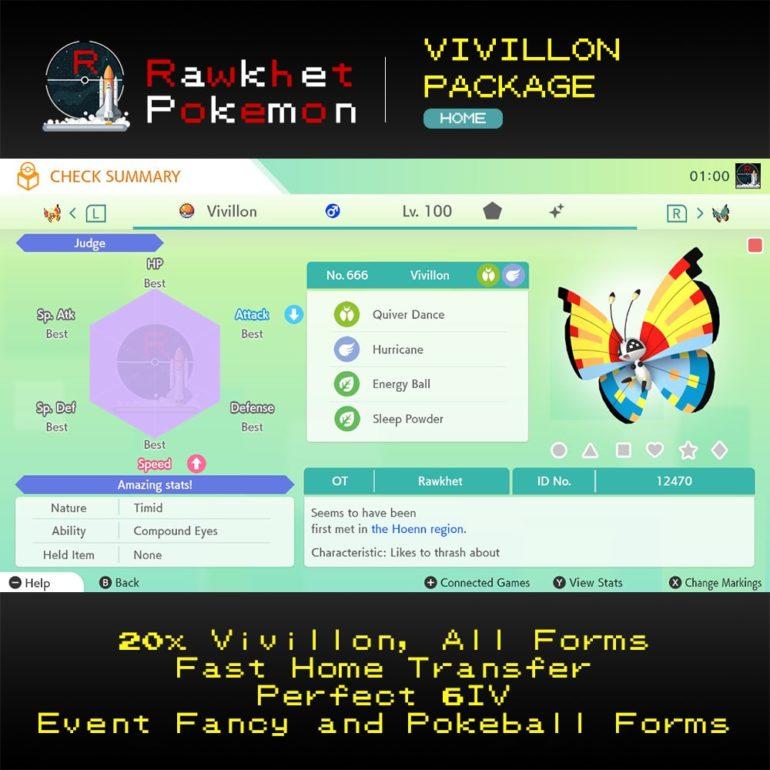 Vivillon - Shiny 6IV