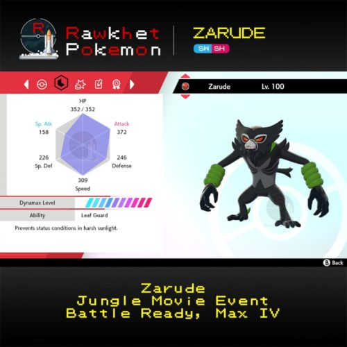 Zarude - Stats