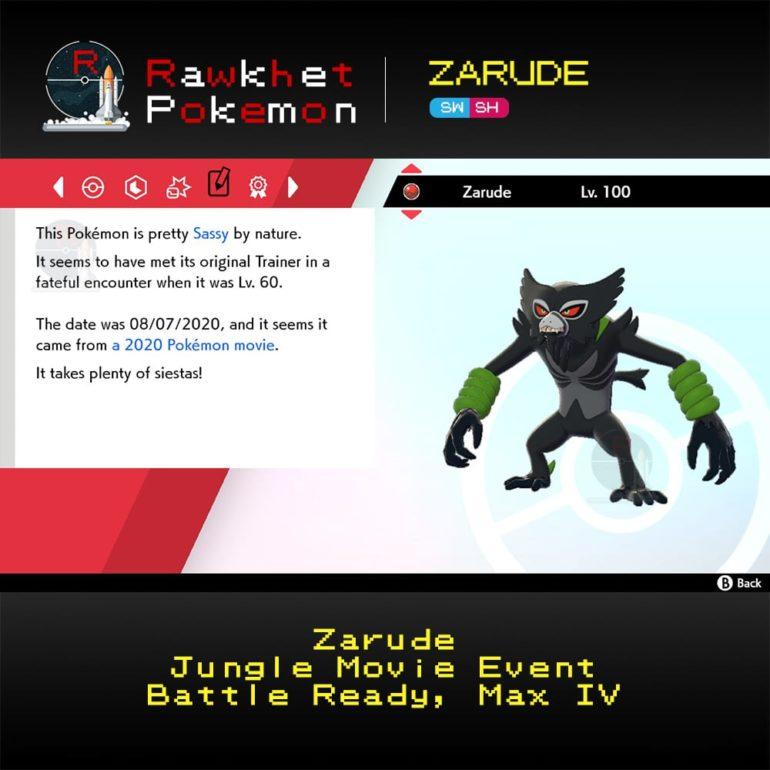 Zarude - Summary