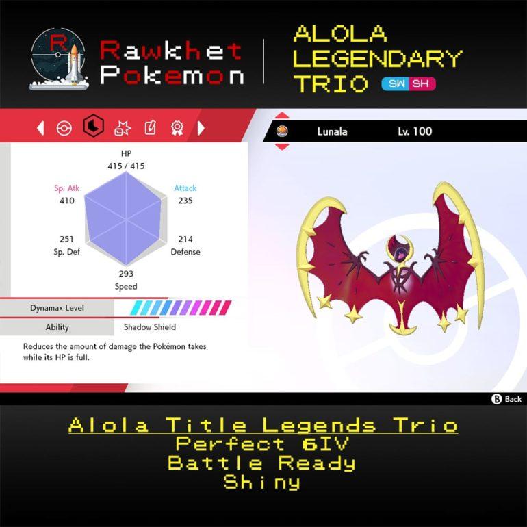 Alola Trio - Lunala Stats