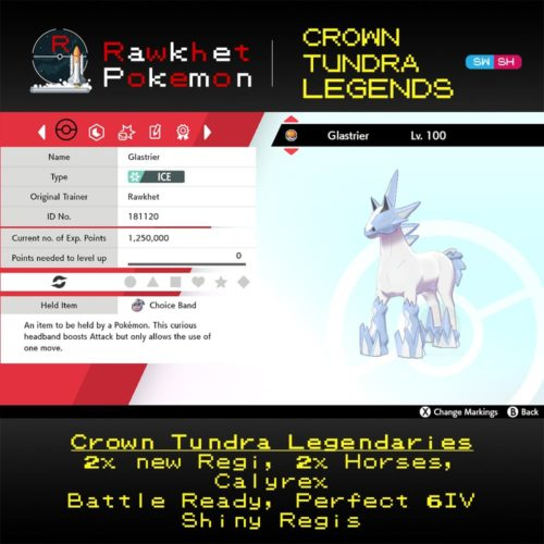 Crown Tundra Legends - Glastrier Summary