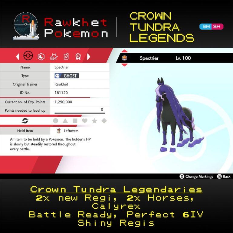 Crown Tundra Legends - Spectrier Summary