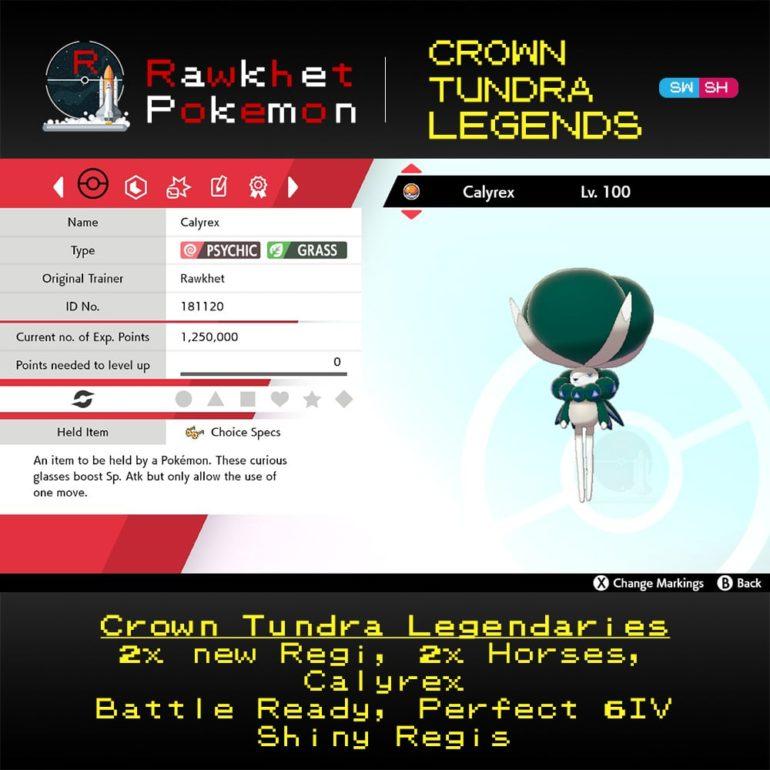 Crown Tundra Legends - Calyrex Summary