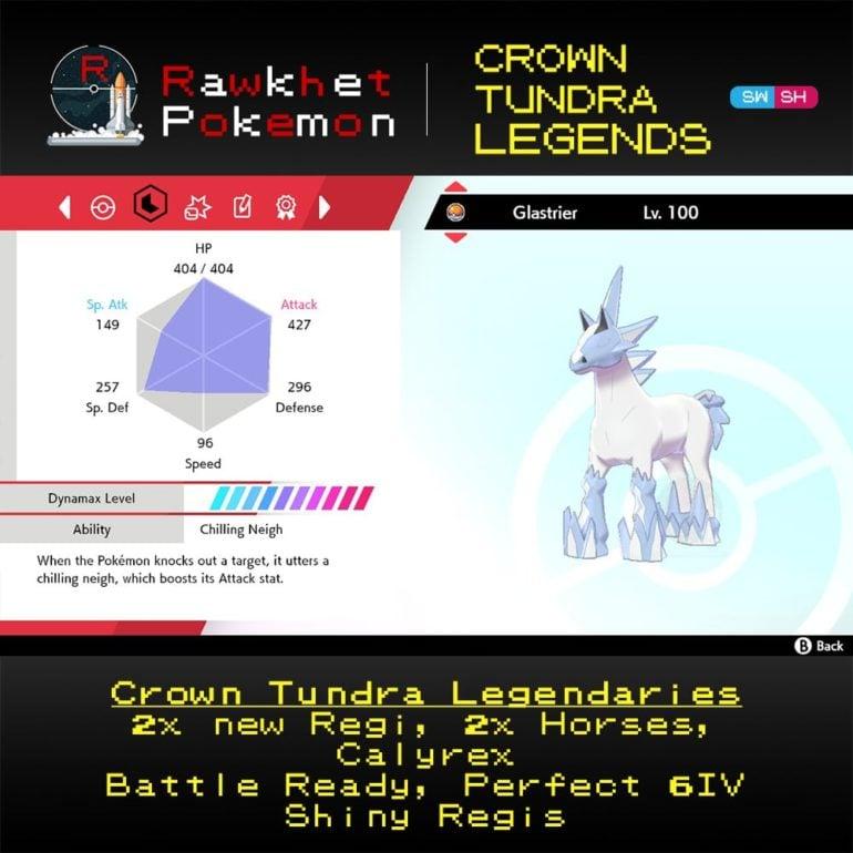 Crown Tundra Legends - Glastrier Stats