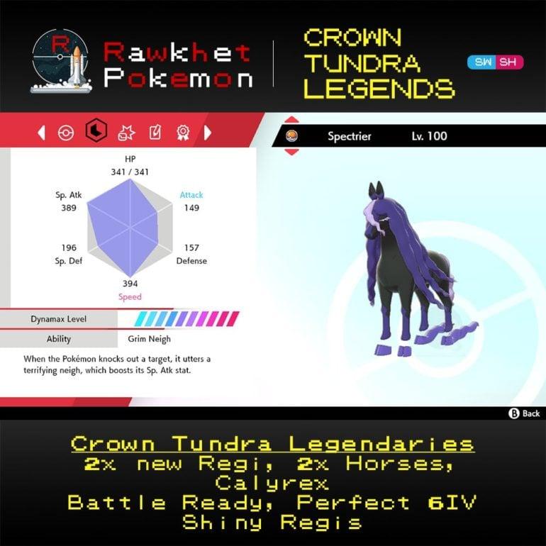 Crown Tundra Legends - Spectrier Stats