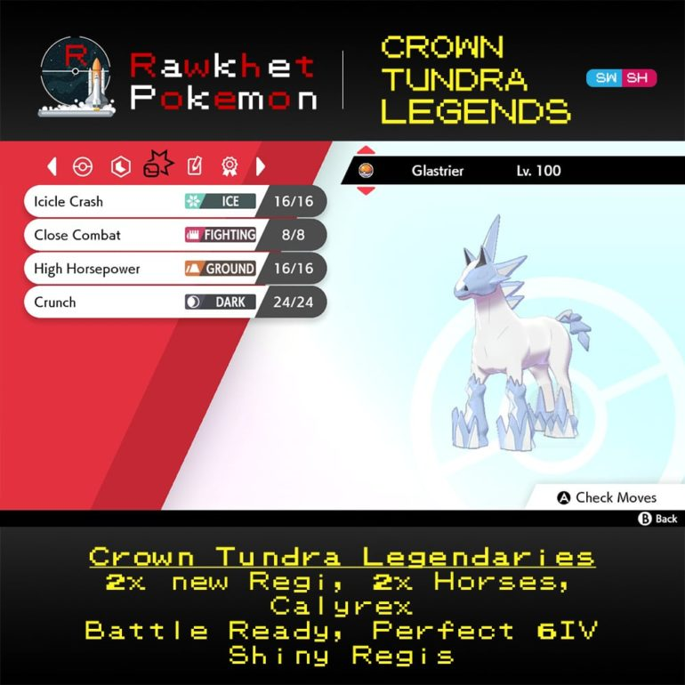 Crown Tundra Legends - Glastrier Moves