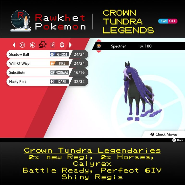 Crown Tundra Legends - Spectrier Moves