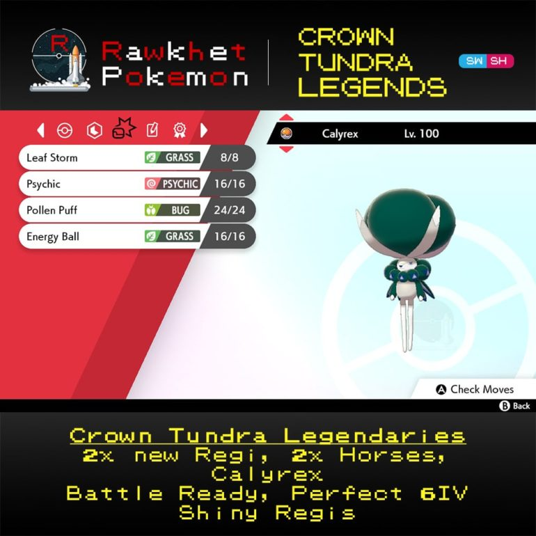 Crown Tundra Legends - Calyrex Moves