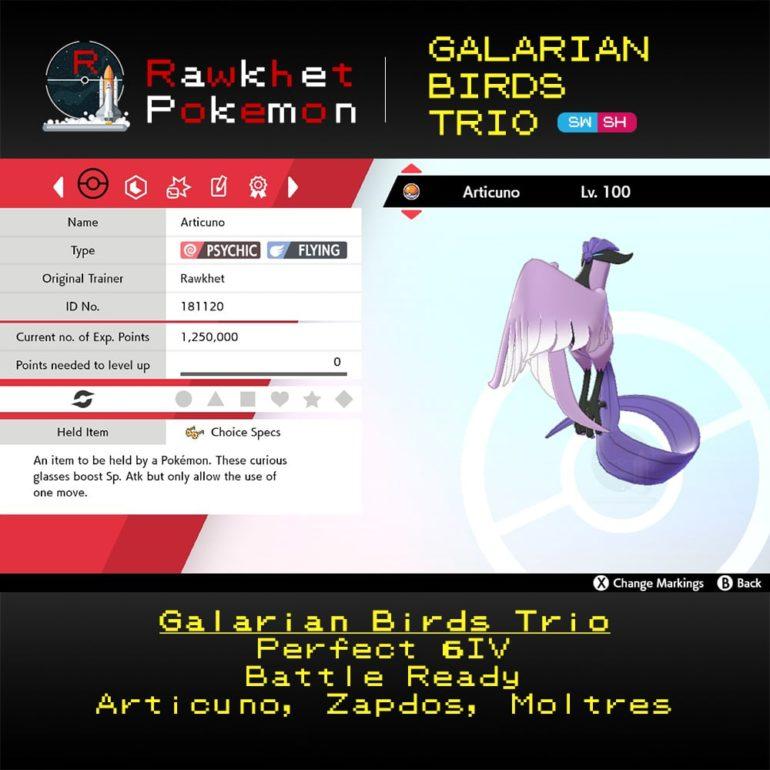 Galarian Birds - Articuno Summary