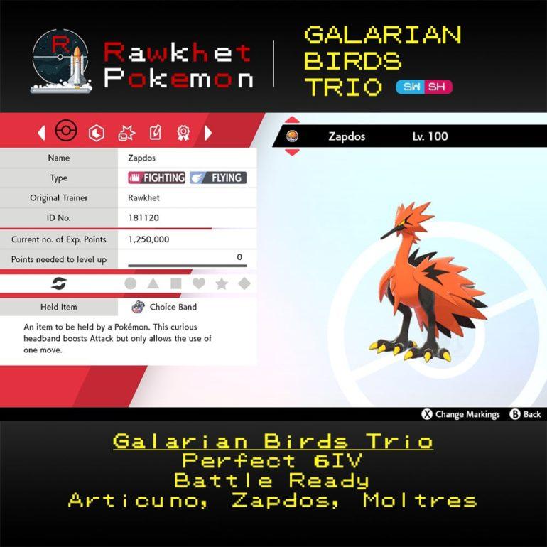 Galarian Birds - Zapdos Summary
