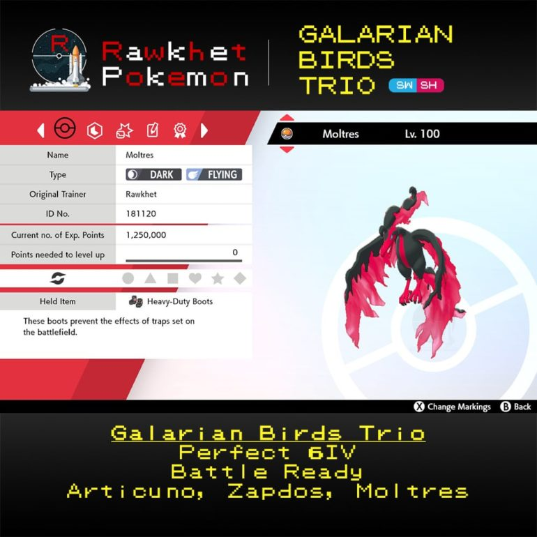 Galarian Birds - Moltres Summary