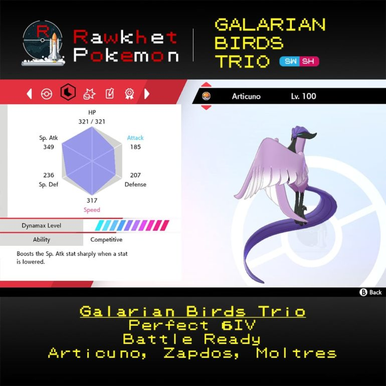 Galarian Birds - Articuno Stats